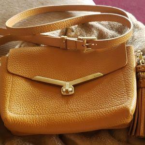 Botkier gold pebbled leather crossbody bag